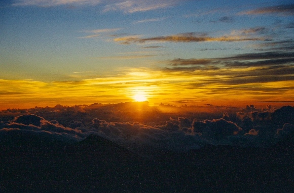 Haleakala at sunrise.